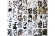 39 Drawings, 2010, indian ink, wax crayon and acrylic on paper, 168x147cm